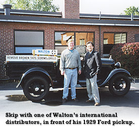 Skip Weeks and his 1929 Ford pickup truck